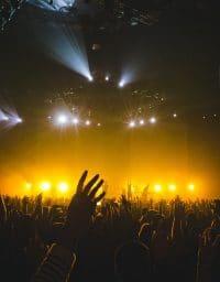 Large concert crowd